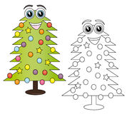 Christmas tree cartoon Stock Photo