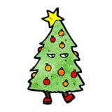 christmas tree cartoon character Stock Image