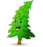 Christmas tree cartoon character Stock Photos