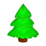 Christmas tree, cartoon design for card,  icon, symbol.  Royalty Free Stock Photos