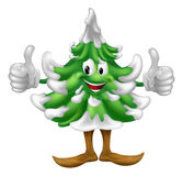 Christmas tree cartoon man Stock Image