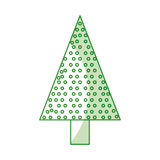 Christmas tree cartoon Royalty Free Stock Photo