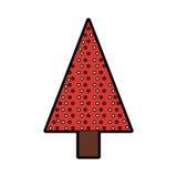 Christmas tree cartoon Royalty Free Stock Images