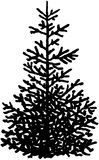 Christmas tree cartoon Vector Clipart Royalty Free Stock Photography