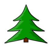 Christmas tree cartoon vector symbol icon design. Beautiful illustration isolated on white background Royalty Free Stock Image