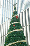 Christmas tree in CBD stock photography