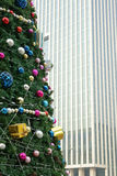Christmas tree in CBD stock photo