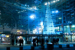 Christmas Tree at the central railway station Stock Images