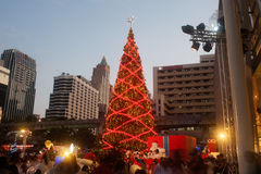 Christmas tree at Centralworld shopping mall in Bangkok,Thailand Stock Images