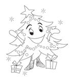 Christmas tree character. Royalty Free Stock Images