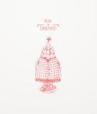 Christmas Tree Character. Christmas greeting card Stock Images