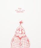 Christmas Tree Character. Christmas greeting card Royalty Free Stock Photos