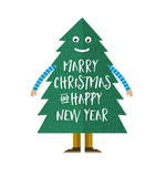 christmas Tree Character - vector Illustration Stock Photography