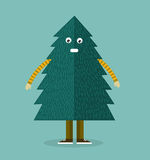 Christmas Tree Character - vector Illustration Royalty Free Stock Image