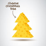 Christmas tree in cheese design Stock Photos