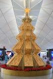 Christmas tree at  Chek Lap Kok Airport, Hong Kong Stock Photography