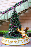 Christmas tree with cherub Stock Image
