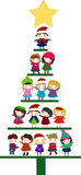 Christmas tree of children Royalty Free Stock Images