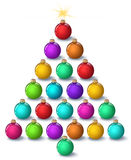 Christmas tree, christams ball, on a white background.  stock illustration