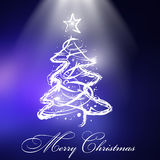 Christmas tree with Christmas background Royalty Free Stock Image