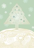 Christmas tree. Christmas Card Royalty Free Stock Photography