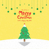Christmas Tree (Christmas Cards). Vector illustration of a Christmas Tree. (Christmas Cards stock illustration