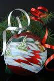 Christmas tree with Christmas decorations. Green branches of trees with Christmas decorations Stock Image