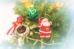 Christmas tree with christmas decorations Royalty Free Stock Photography
