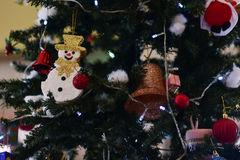 Christmas tree and Christmas decorations. Blurred image :  Christmas tree and Christmas decorations Royalty Free Stock Photography