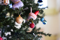 Christmas tree and Christmas decorations. Blurred image :  Christmas tree and Christmas decorations Royalty Free Stock Photo