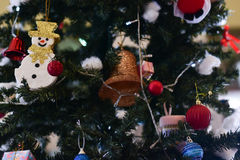 Christmas tree and Christmas decorations. Blurred image :  Christmas tree and Christmas decorations Royalty Free Stock Images