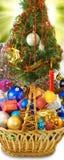 Christmas tree and Christmas decorations Royalty Free Stock Photos