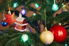 Christmas tree with Christmas decorations Stock Photos