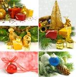 Christmas tree and Christmas decorations Royalty Free Stock Image
