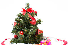 Christmas Tree and Christmas decorations Royalty Free Stock Photo