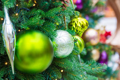 Christmas tree and Christmas decorations Royalty Free Stock Images