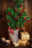 Christmas tree and Christmas decorations Royalty Free Stock Image