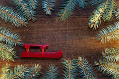 Christmas tree with Christmas decorations Royalty Free Stock Photos