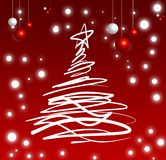 Christmas tree, christmas, festival. Decorative christmas tree for greeting card/web use Royalty Free Stock Photo