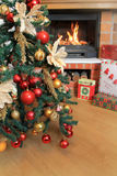 Christmas Tree and Christmas gift boxes Stock Image