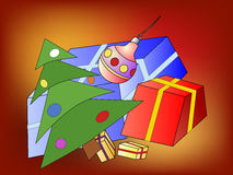 Christmas tree and Christmas presents Royalty Free Stock Photo