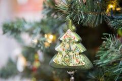 Christmas tree on a Christmas tree stock image