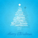 Christmas tree of Christmas words. Stock Images