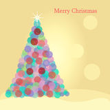 Christmas Tree Circle. Christmas Tree Made of Circles vector illustration