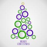 Christmas tree circles illustration Royalty Free Stock Photo