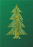 Christmas Tree Circuit. IT celebration concept Stock Images