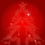 Christmas Tree from circuit board Stock Photography