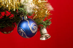 Christmas Tree - close up. Christmas tree with ornaments , close up Stock Image