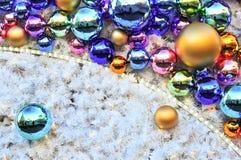 Christmas tree bulbs Stock Photography