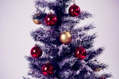 Christmas tree close up. On white background stock images